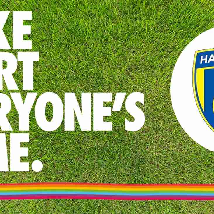 Harvesters FC supports Herts FA and Stonewall Charity in Rainbow Laces Campaign