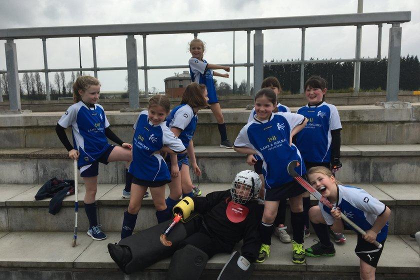 Under 10 girls 7th in Midlands