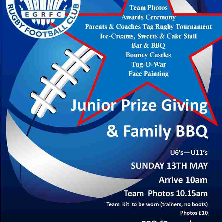 Junior Prize Giving & Family BBQ