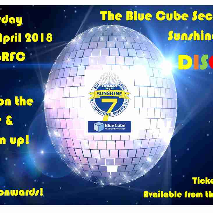 The Blue Cube Security Sunshine Sevens Disco