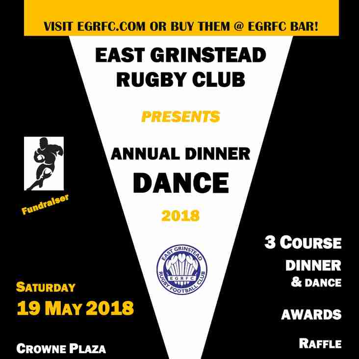 EGRFC Annual Dinner Dance - 19 May 2018