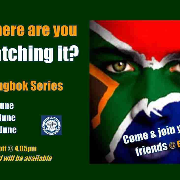 Springbok Series - Starts next weekend!