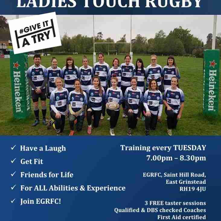 EGRFC Ladies Touch Rugby