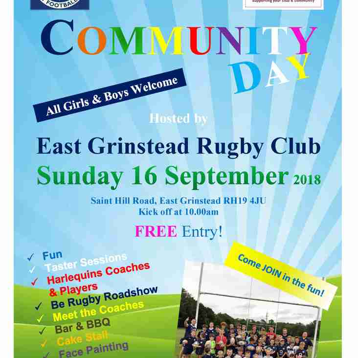 EGRFC NatWest Community Day - this Sunday, 16 September 2018