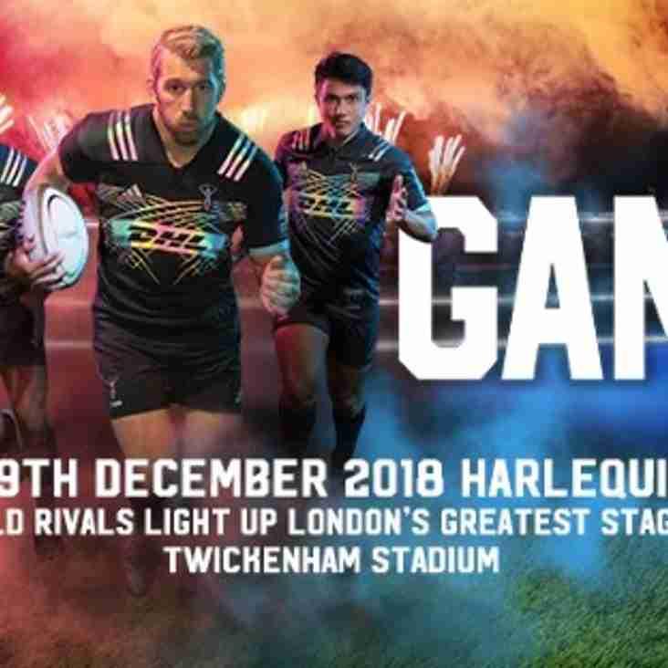 BIG GAME 11 - Harlequins v Wasps, Saturday 29 December 2018