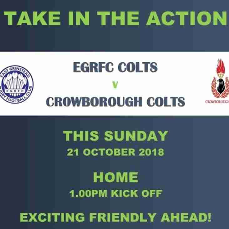 EGRFC Colts v Crowborough Colts - Home Game