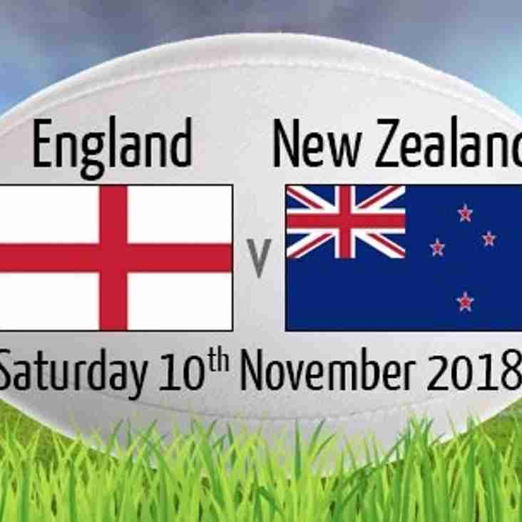 England face the All Blacks at Twickenham this weekend - Saturday 10 November 2018