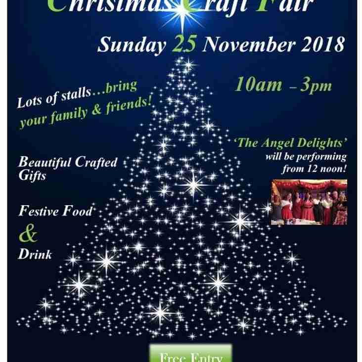 EGRFC Christmas Craft Fair - Sunday 25 November 2018
