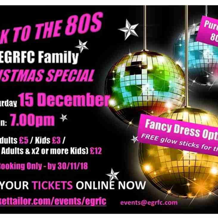 EGRFC Family Christmas Special - 'Back to the 80's'