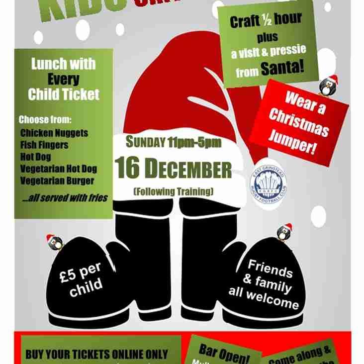 Last Call.....EGRFC Kids Xmas Party, Sunday 16th December 2018
