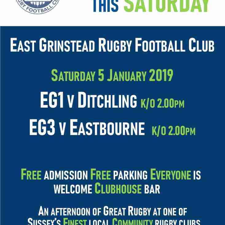 Great Live Rugby this Saturday @ EGRFC