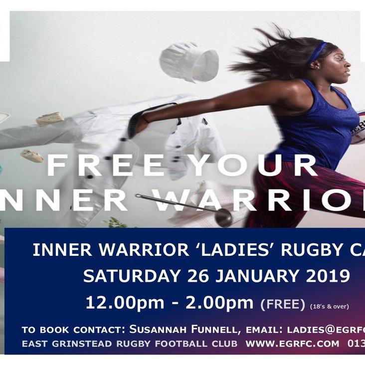 EGRFC Inner Warrior Ladies Rugby Camp - Saturday 26 January 2019<