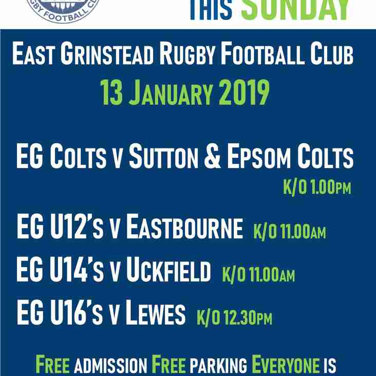 Great Live Rugby this Sunday @ EGRFC