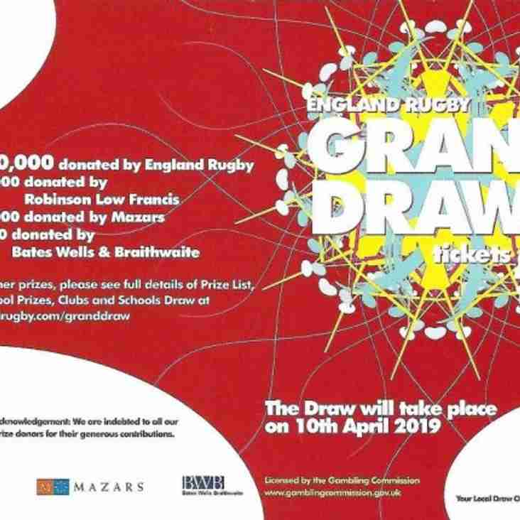 RFU GRAND DRAW TICKETS 2019 - **** HAVE YOU GOT YOUR TICKET STUBS IN ****