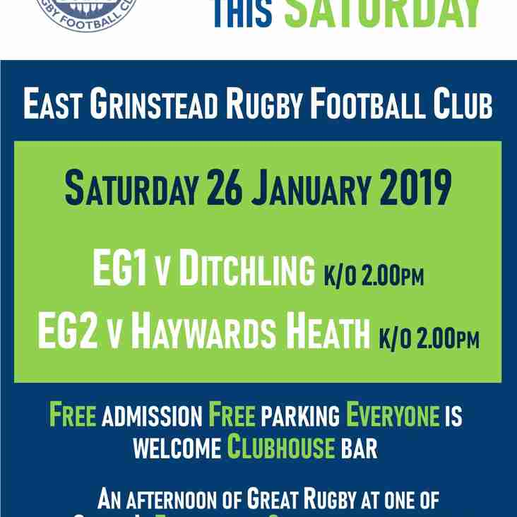 Great rugby at EGRFC this Saturday, 26 January 2019