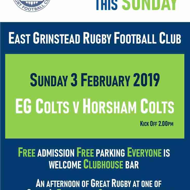 EG Colts v Horsham Colts - Sunday 3 February 2019
