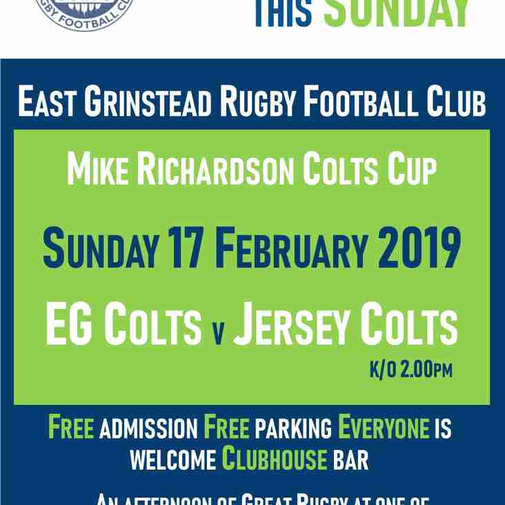 EG Colts v Jersey Colts are at home this Sunday