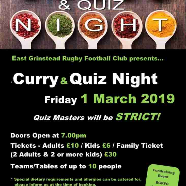 Fancy an 'all you can eat' Curry & Quiz this Friday!
