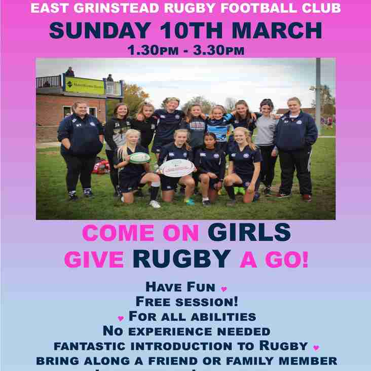 Come on Girls - Give Rugby a Go!
