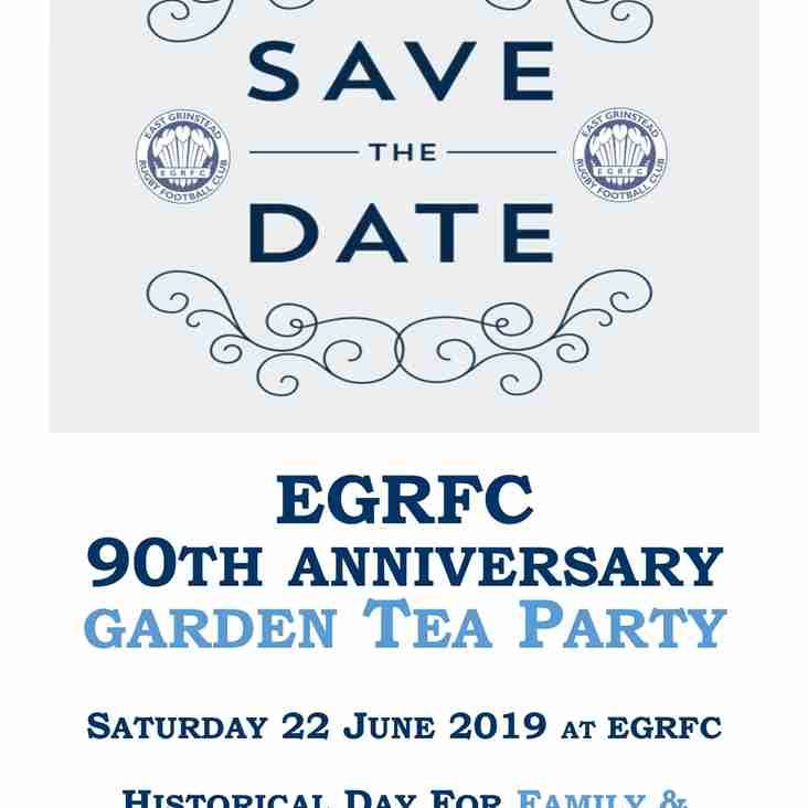 EGRFC 90th Anniversary Garden Tea Party