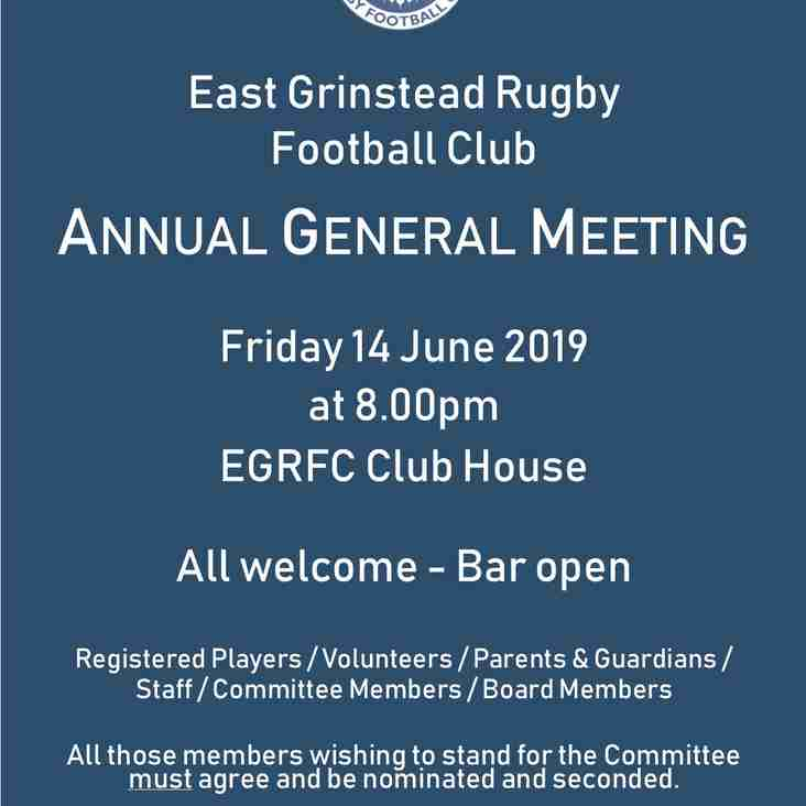 REMINDER ** Notice of Annual General Meeting tomorrow!