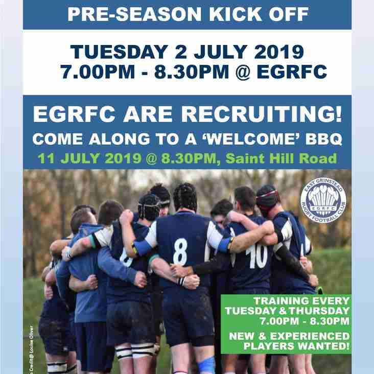 EGRFC Pre-Season Kicks Off...