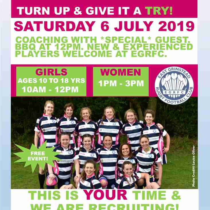 FREE RUGBY TASTER SESSIONS FOR WOMEN & GIRLS!
