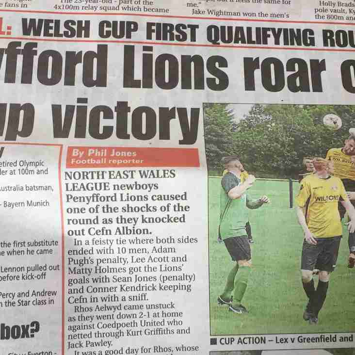 Penyffordd Lions progress to the next Qualifying round
