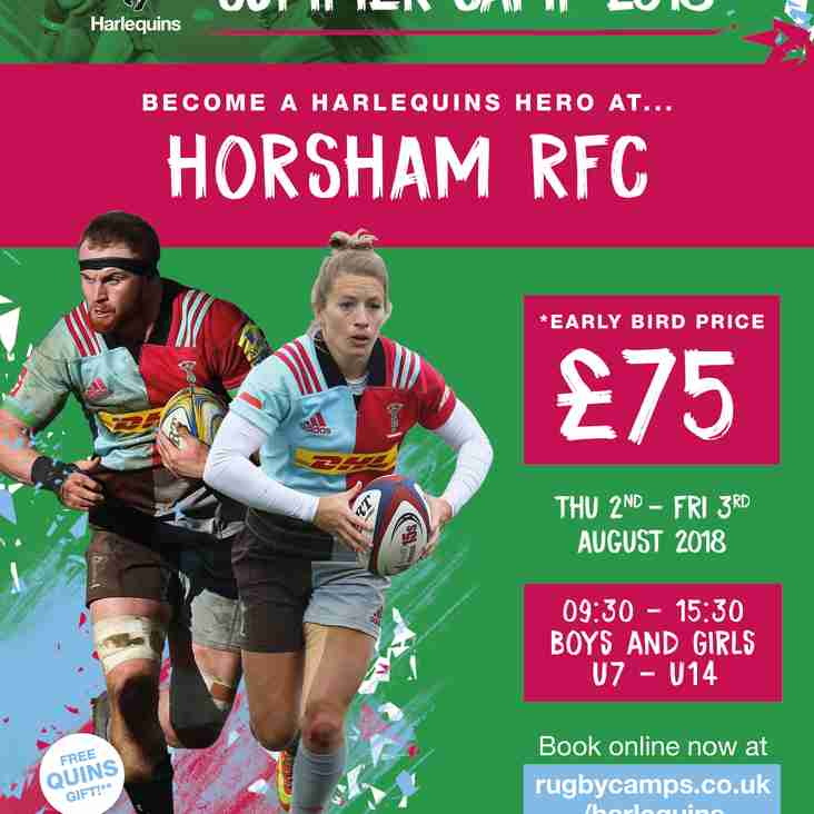 Harlequins Rugby Camp 2nd & 3rd August
