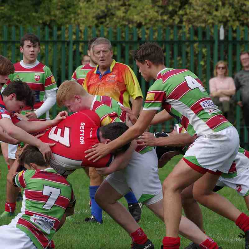 Warrington vs Sefton u17's