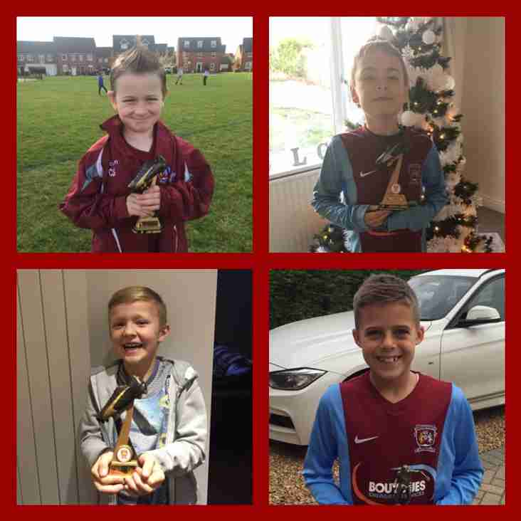 Claret Under 8's have a great 2016