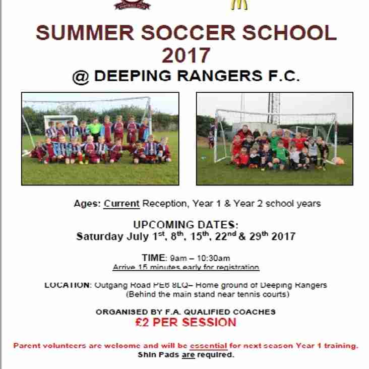 Coaches required for Deeping Rangers Soccer School