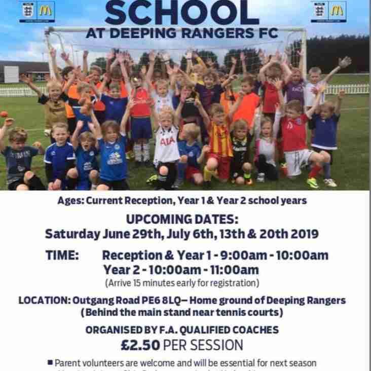 ITS BACK!!! Deeping Rangers Summer Soccer School 2019