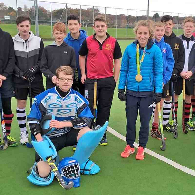 Shona McCallin's Gold Medal Visit to Worcester Hockey Club 20/11/16