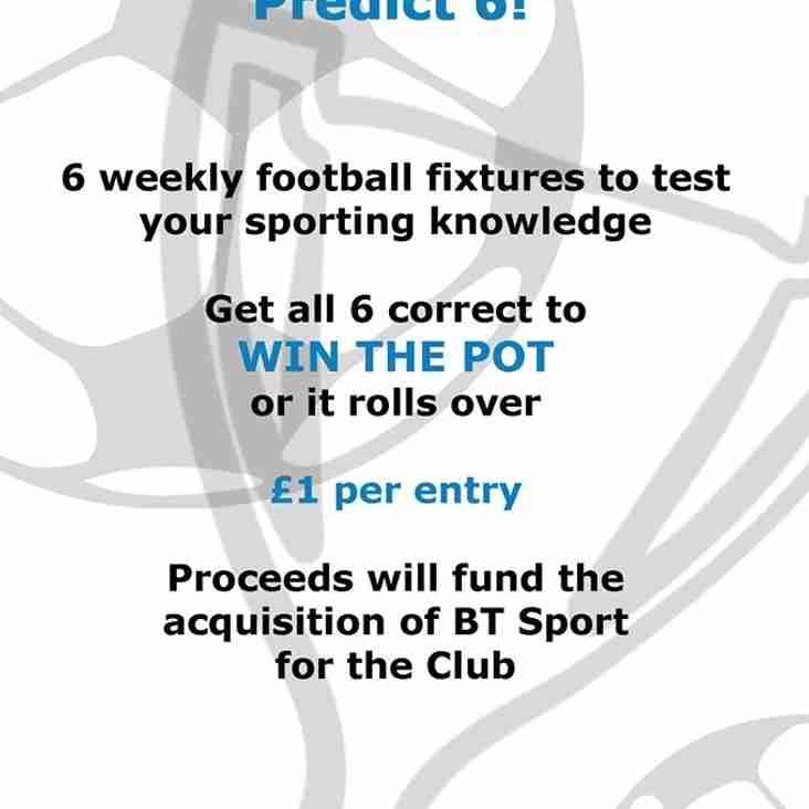 Ashford Sports Club Predict 6