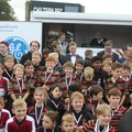 U10's collecting their medals after a great tournament