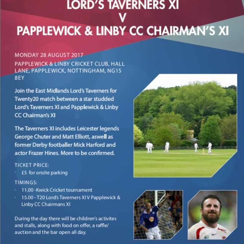 Lords Taverners XI v Chairman Select XI