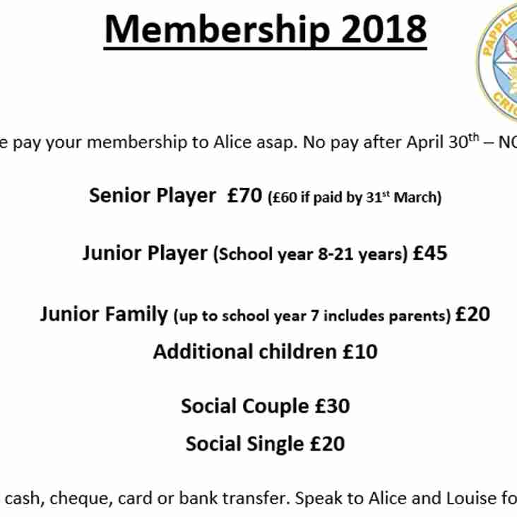 2018 Membership