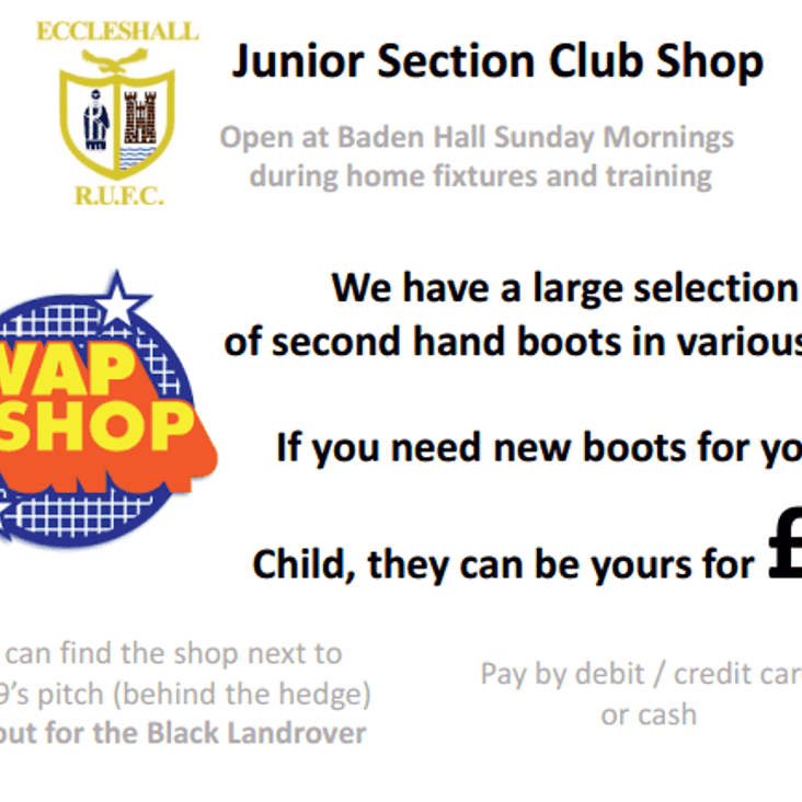 Junior Section Club Shop: Swap Shop