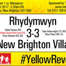 Rhydymwyn 3-3 New Brighton Villa