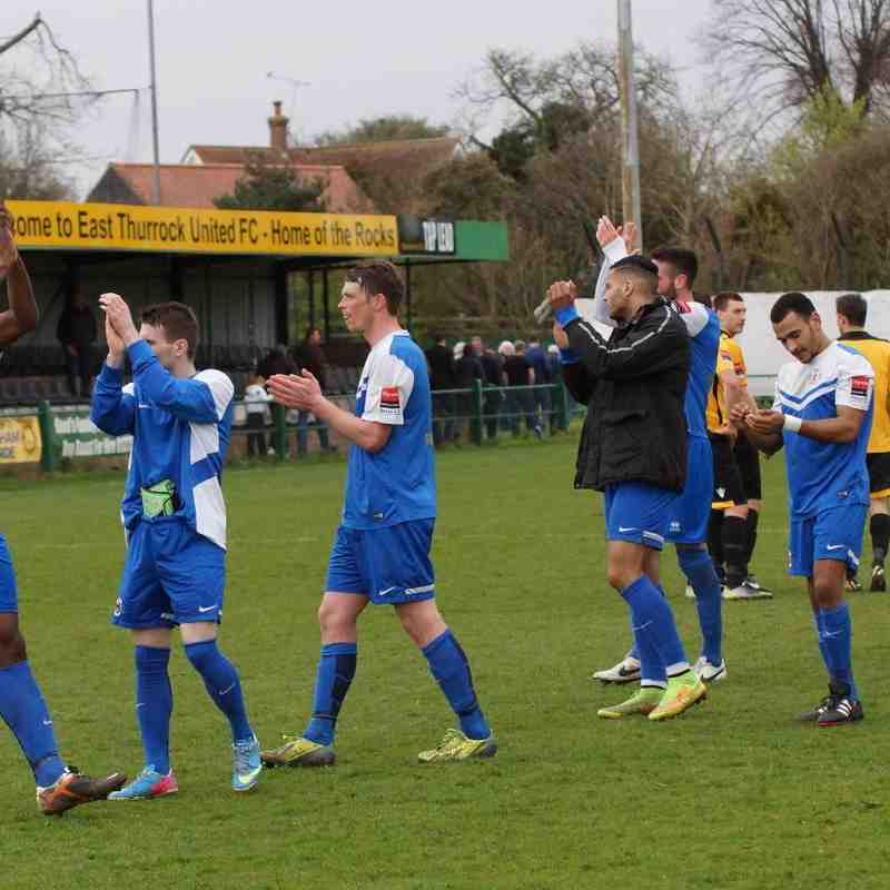 AWAY AT EAST THURROCK 6/4/15