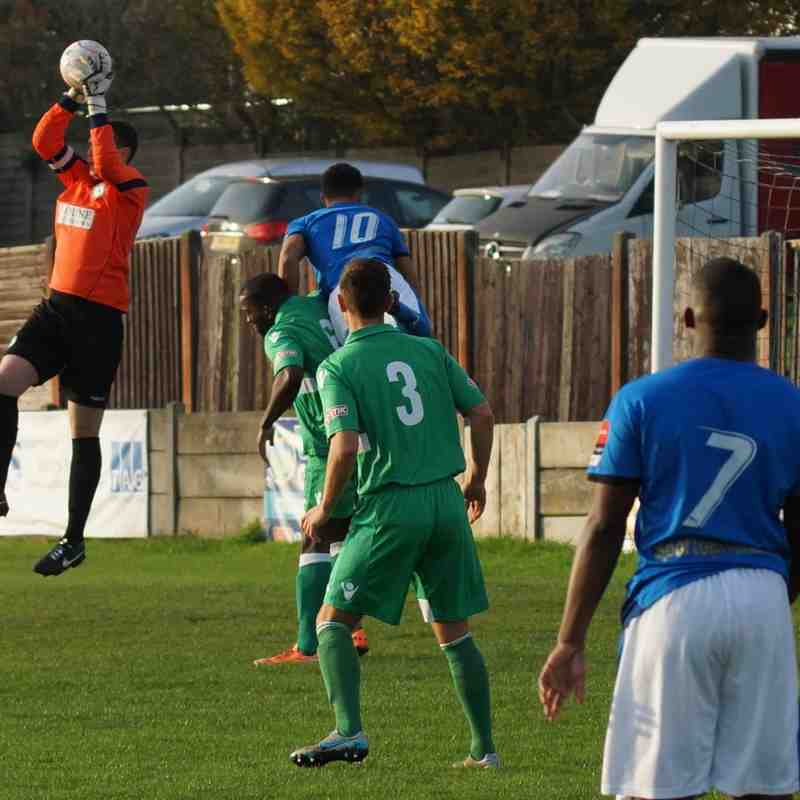 HOME TO BIGGLESWADE TOWN FA TROPHY 1st QR. 31/10/15 WON 2-1