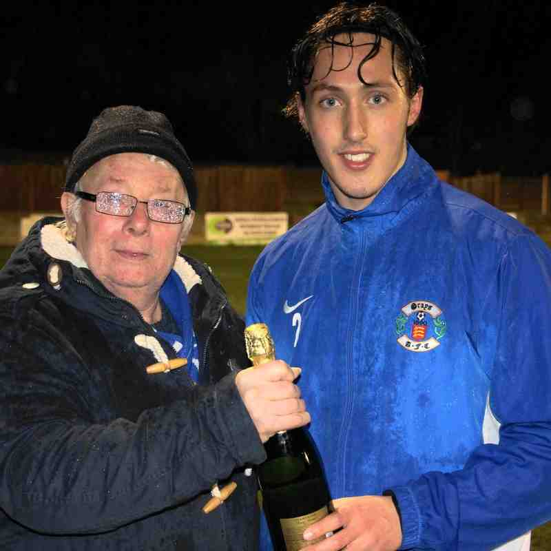 PLAYER OF THE MONTH (January) as voted by supporters - JAKE HUTCHINGS