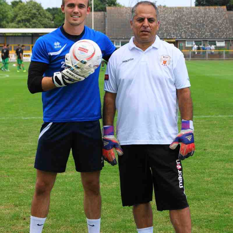 CHARLIE CROWLEY AND GK. COACH  HUS.