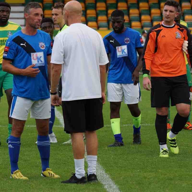 FRIENDLY AWAY AT THURROCK 23/7/16 WON 2-1