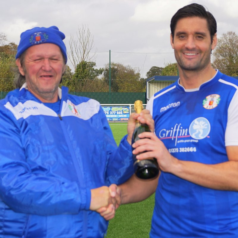SEPTEMBER PLAYER OF THE MONTH AS VOTED BY  FANS - JAMIE SLABBER.