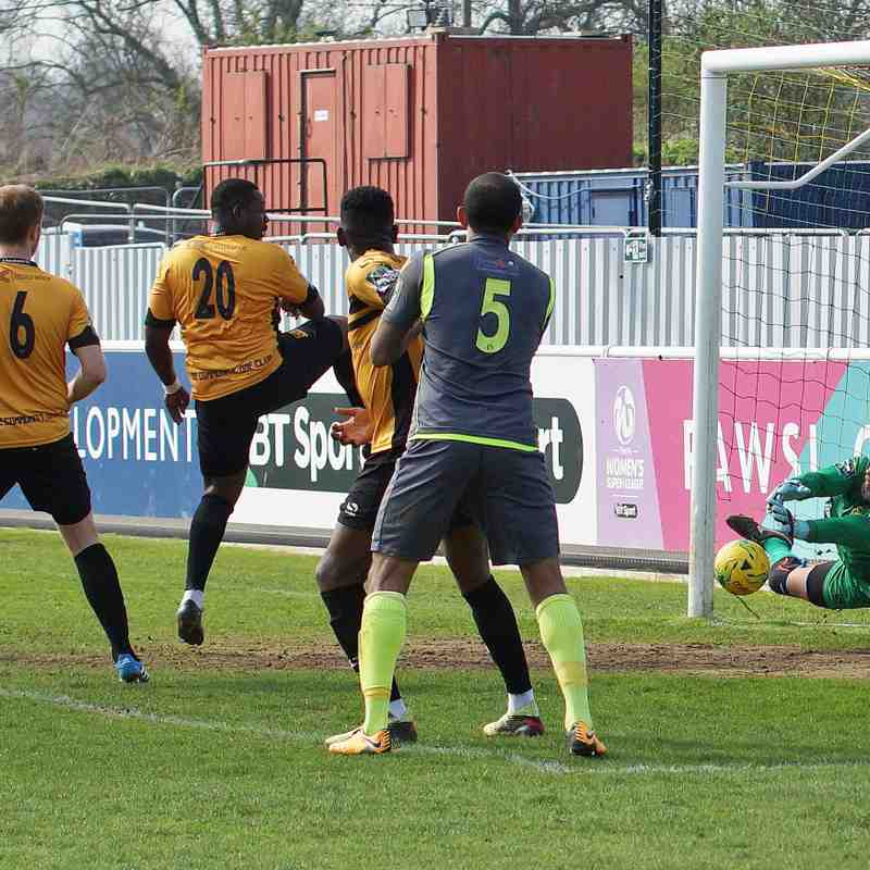 AT CHESHUNT 14/4/18 LOST 0-1