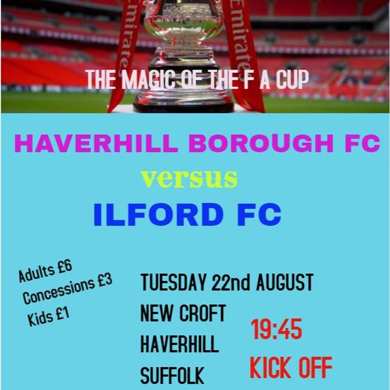F A CUP RETURNS TO HAVERHILL!