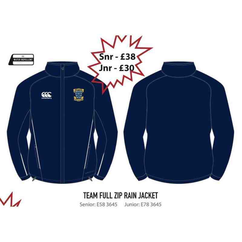 Team Full Zip Rain Jacket (Senior)