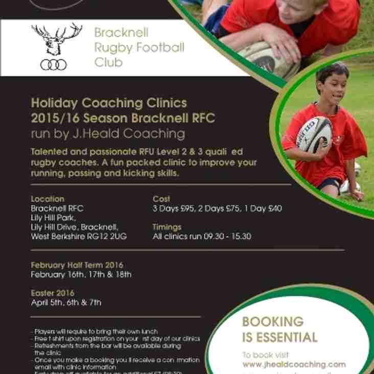 February Half Term Rugby Clinic